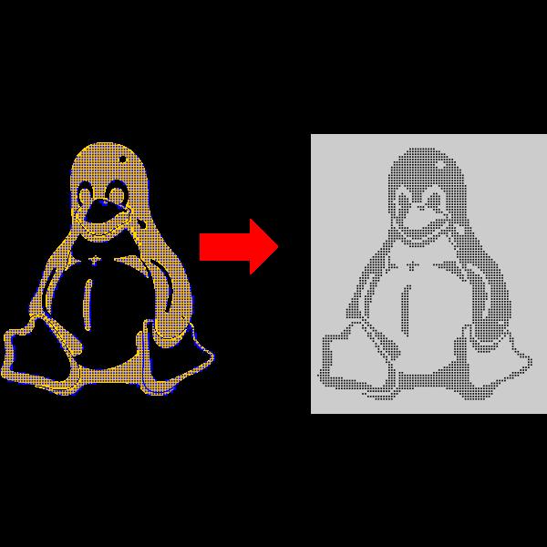 Penguin tutorial vector image