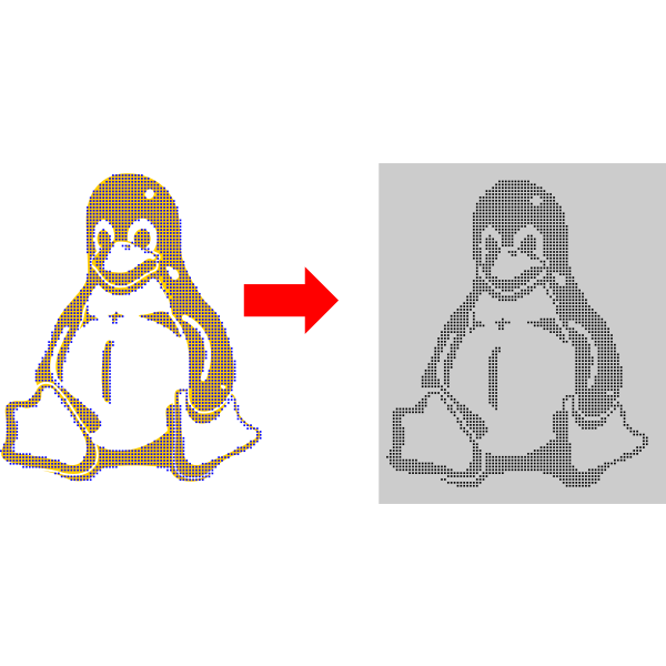 Penguin tutorial vector image