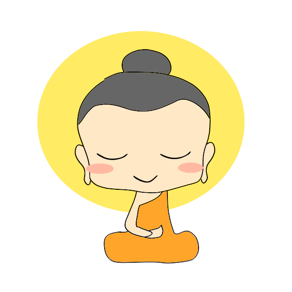 Little buddha girl vector