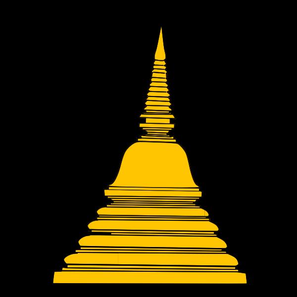 Buddhist temple vector clip art