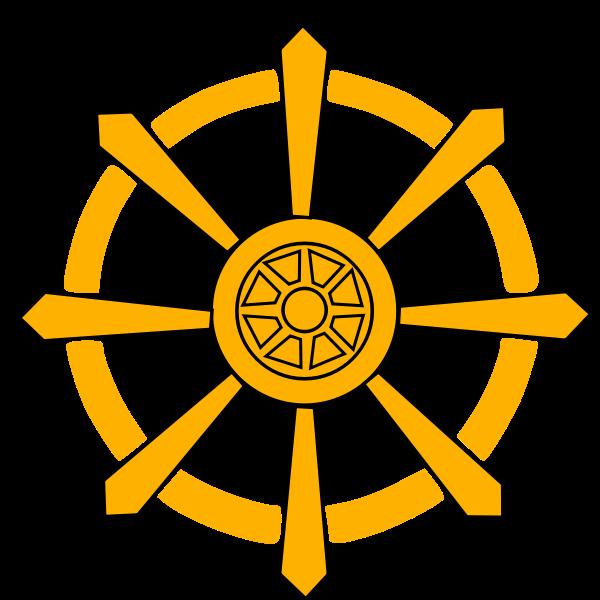 Wheel of Law vector image