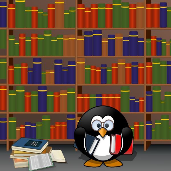 Penguin reading