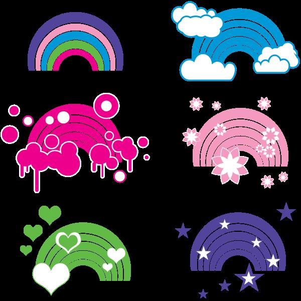 Rainbow decoration vector image