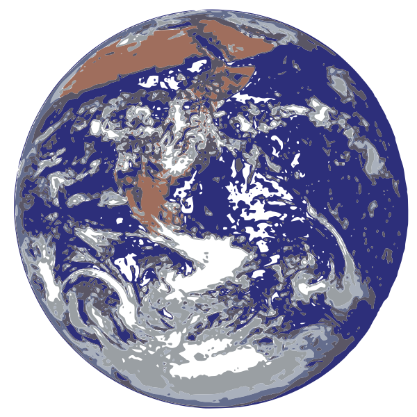 Earth from space vector clip art
