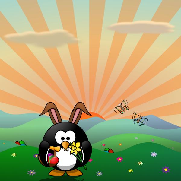 Happy egg hunt poster vector illustration