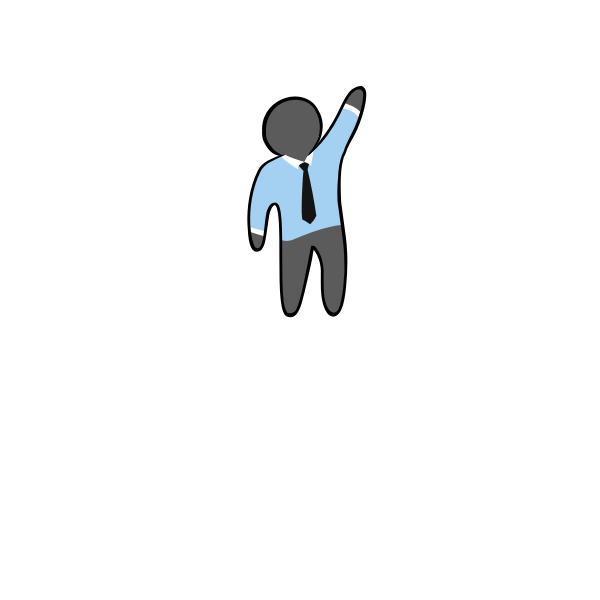Vector image of faceless man with tie