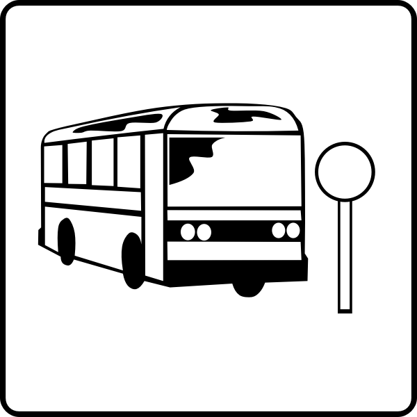 Near bus stop