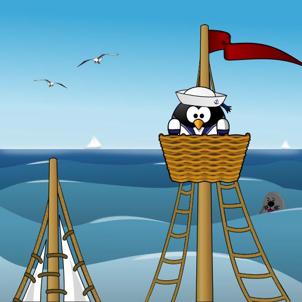 Penguin sailor