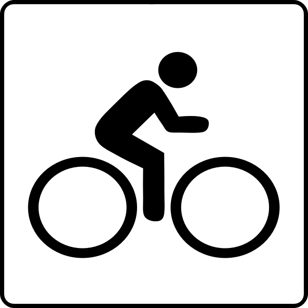 Vector drawing of cycling facilities available sign