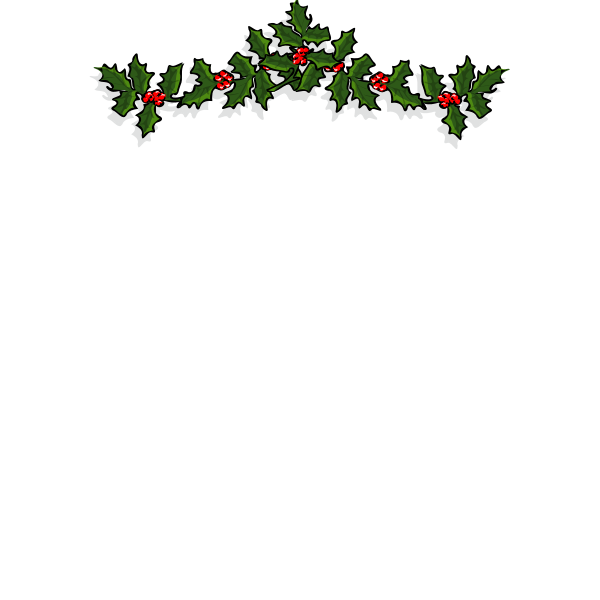Mistletoe decorative piece vector drawing