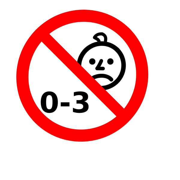 Not suitable for children sign vector image