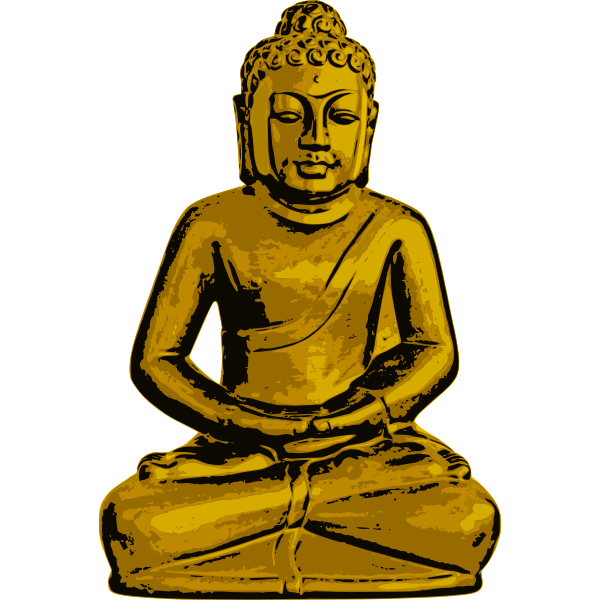 Vector drawing of Golden Buddha