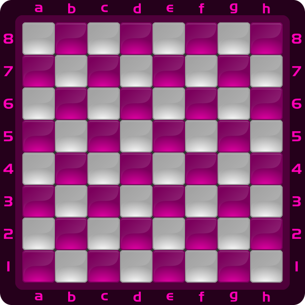 10 Chessboard Color Pink Fusia Clipart by DG RA