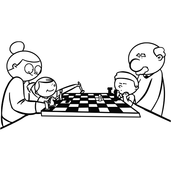 Chess coloring book image