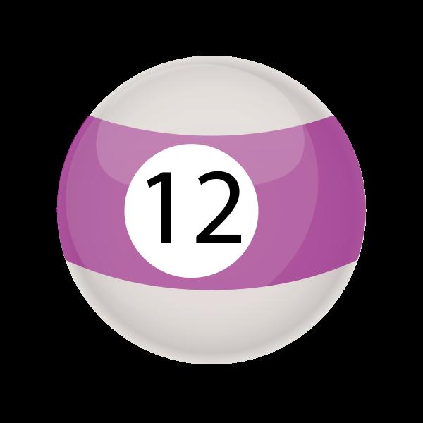 Purple snooker ball 12