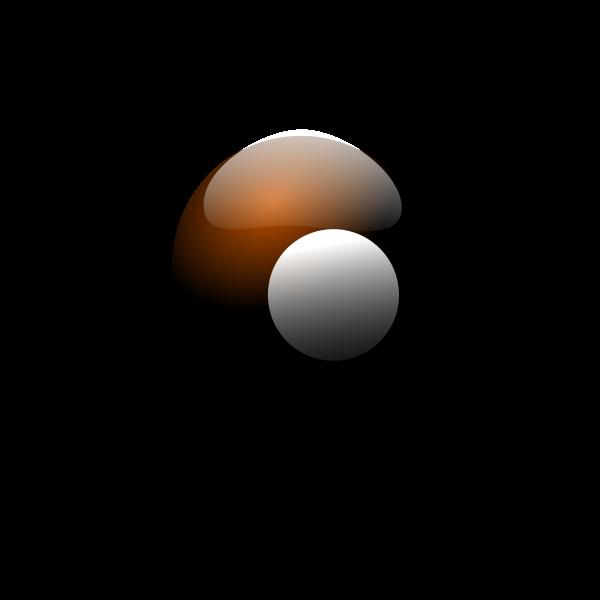 Brown snooker ball