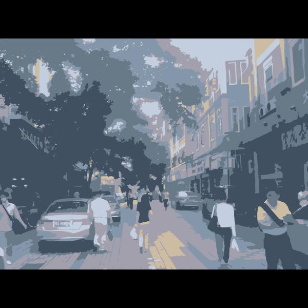 Guangzhou Walking Scene