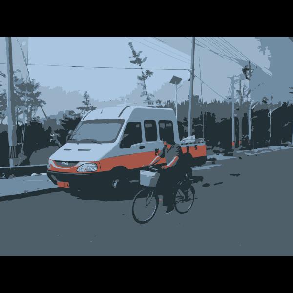 Weird Truck and CCD Biker