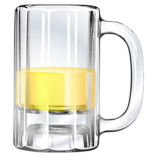 Vector image of half-full beer mug