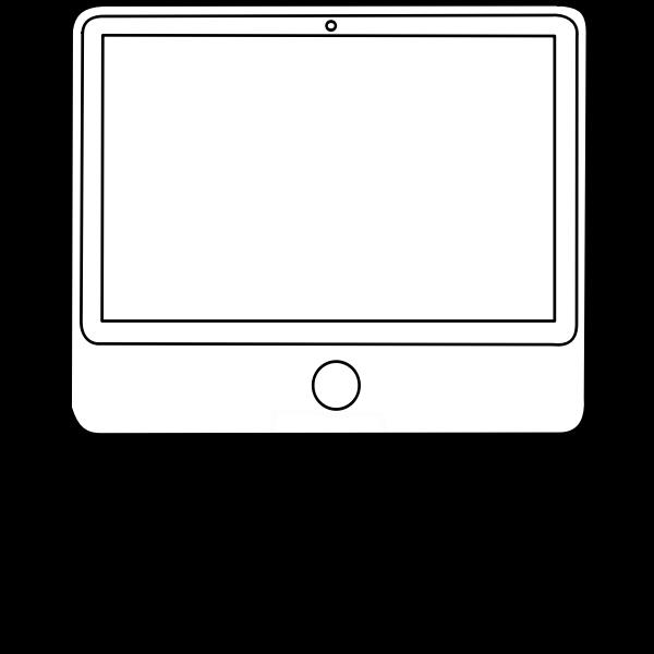 Outline desktop computer configuration vector image