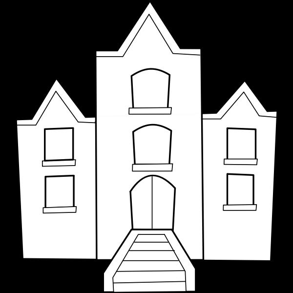 University building vector clip art