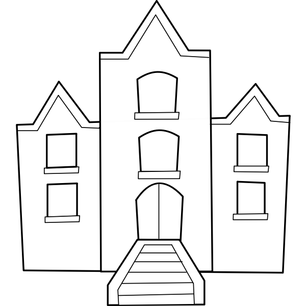 University building vector clip art