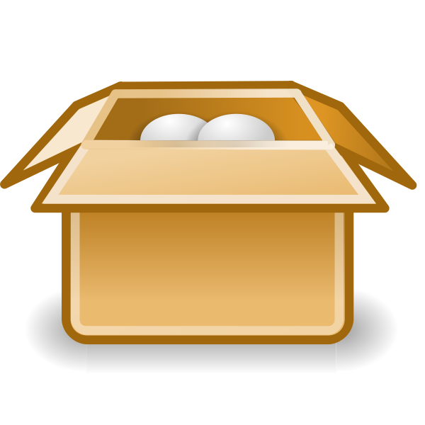 Packaging box icon vector clip art