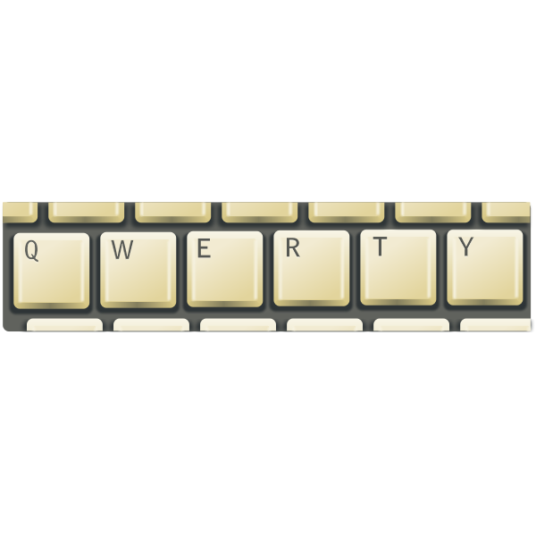 Vector illustration of qwerty keyboard