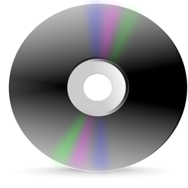 Grayscale CD label vector image