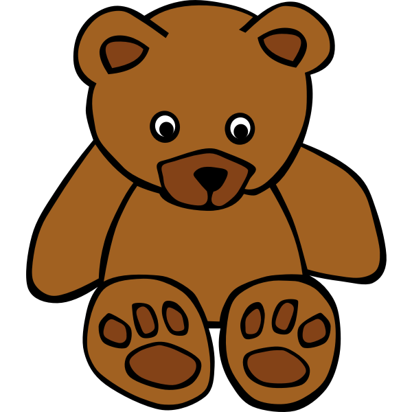 Simple teddy bear vector drawing