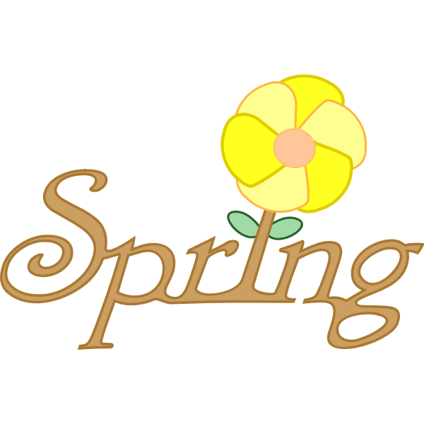 English word for spring