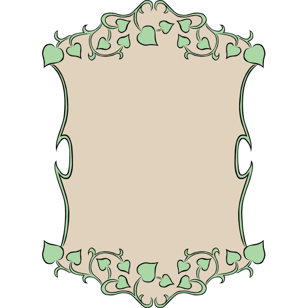 Vector image of garden leaves decorative border
