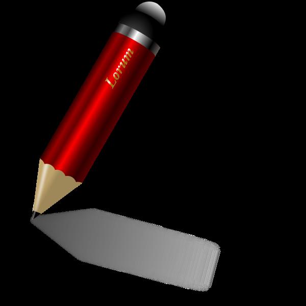 Shiny red pencil