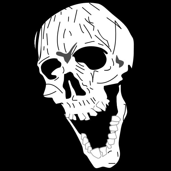 Yawning skull