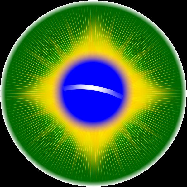 Rounded Brazil flag vector illustration