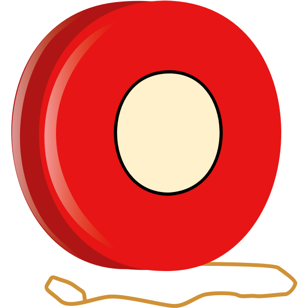 An early version of the yo-yo toy vector clip art