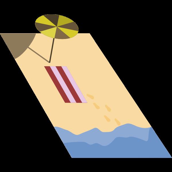 Beach vector graphics