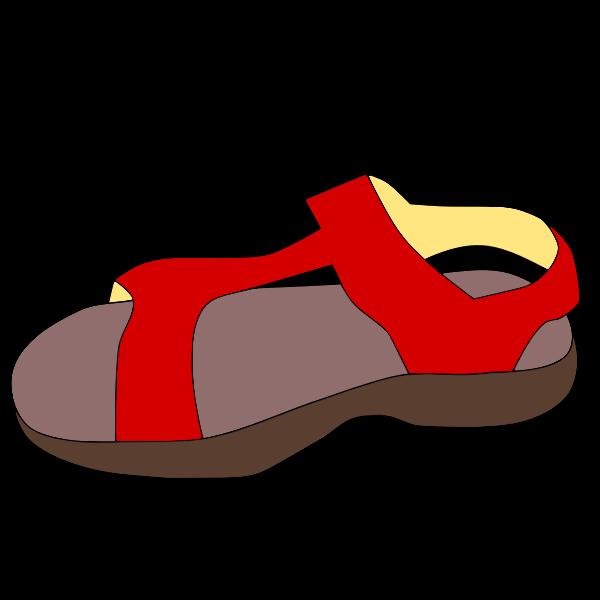 Red sandal vector clip art