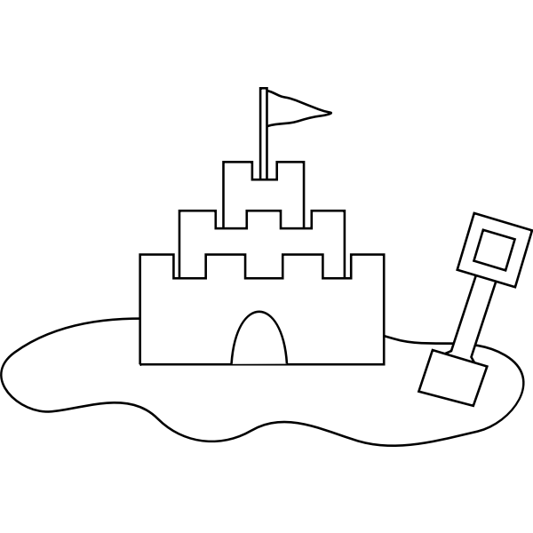 Vector image of castle