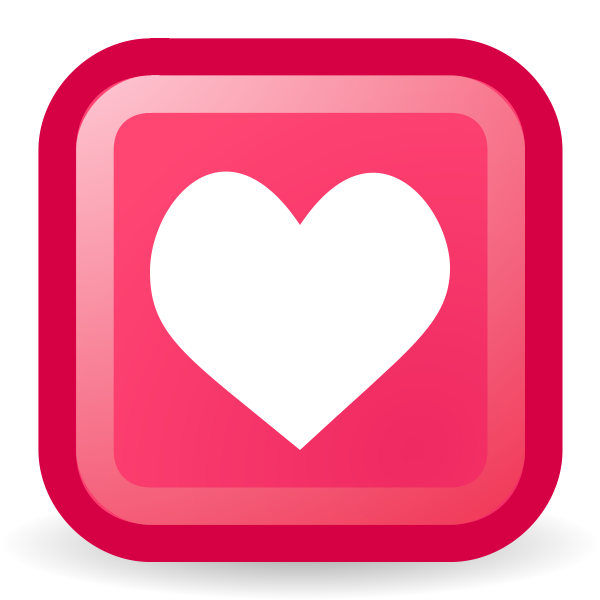 Heart shape in a rectangle vector image