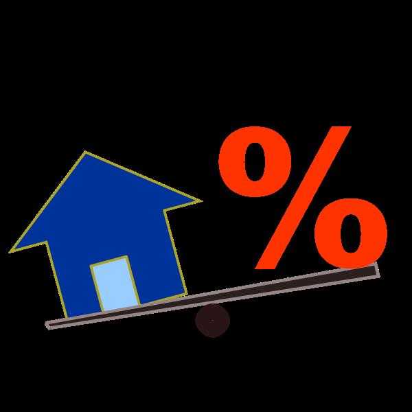 House price percentage