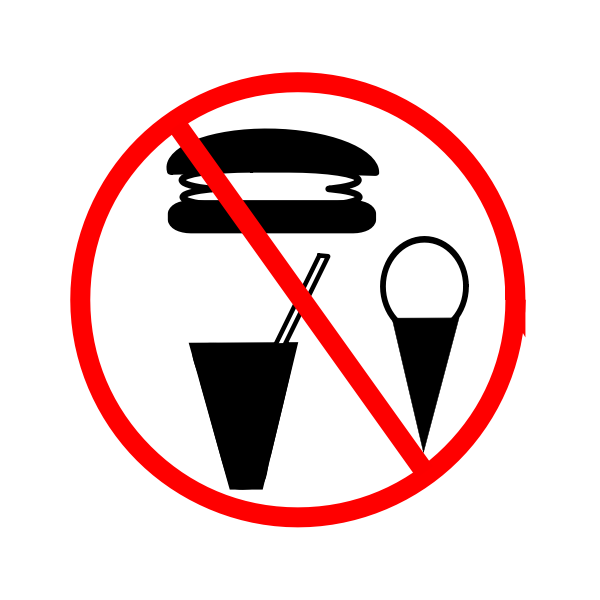 No food allowed sign vector image