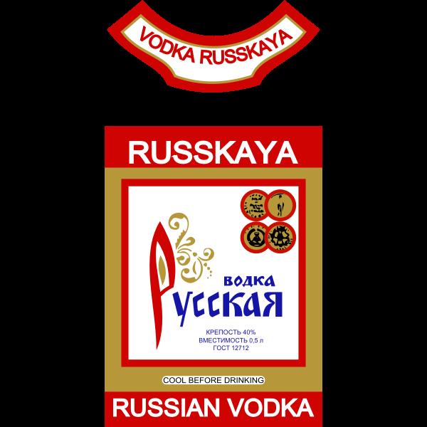 Vector label of Russian vodka