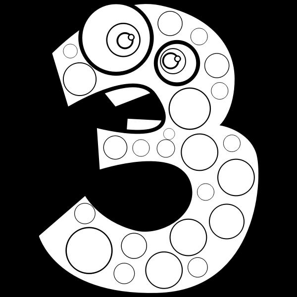 Animal number three vector illustration