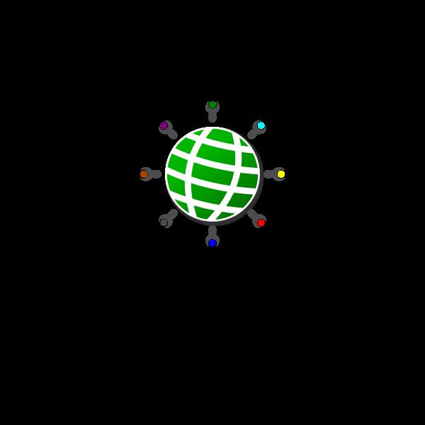 FCRC globe logo vector image