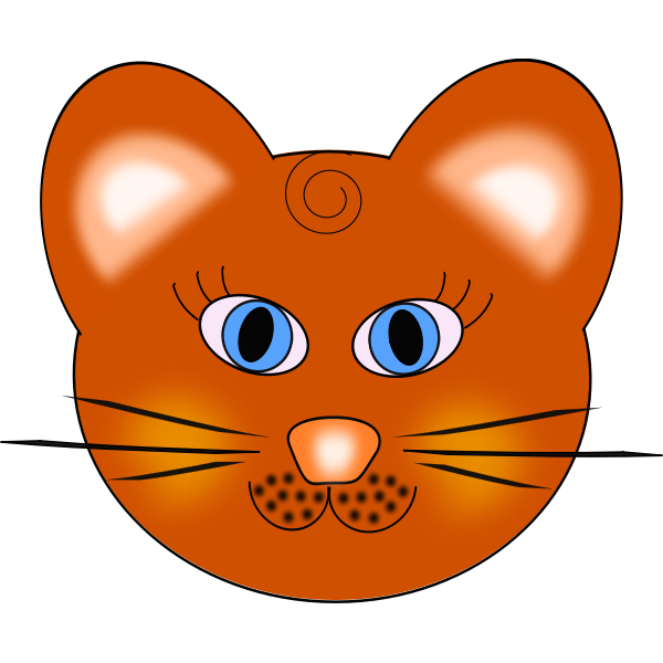 Cat's head with blue eyes vector image