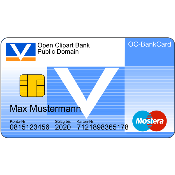 Bankcard with Text