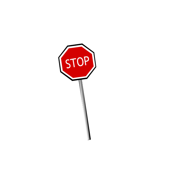 Tilted Stop sign vector image