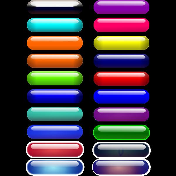 Glossy pills vector illustration
