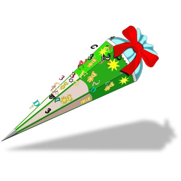 Vector graphics of gift cone